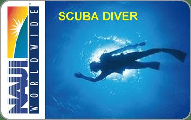 NAUI SCUBA Diver Certification Card
