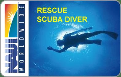 NAUI Rescue SCUBA Diver Certification Card