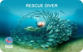 PADI Rescue Diver Certification Card